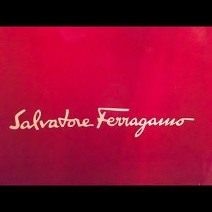 💯 Salvatore Ferragamo suede dark brown purse